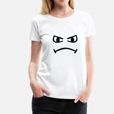 Rote Smiley Smiley - Frauen Premium T-Shirt