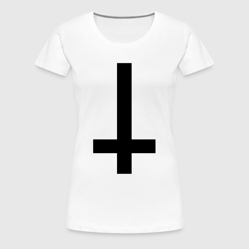 Cross Antichrist reversed 1c - Women's Premium T-Shirt