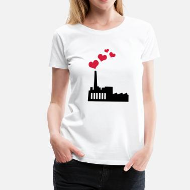 Kohlekraftwerk Love producing Plant - Frauen Premium T-Shirt