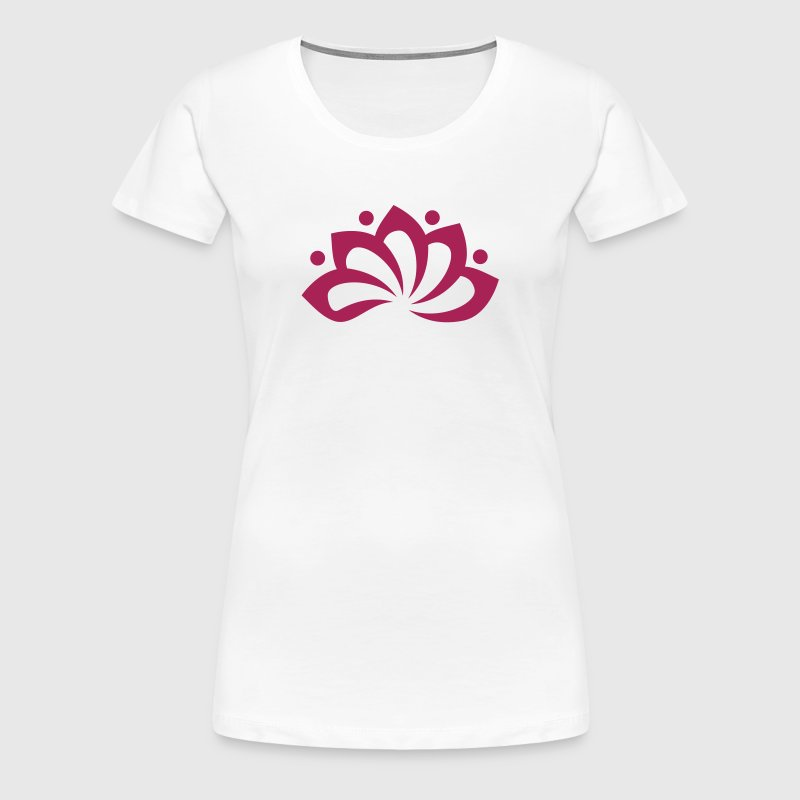 Lotus Flower, c, vector, symbol of perfection and enlightenment, sacred symbol - Women's Premium T-Shirt