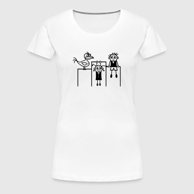 Kinder & Vogel turnen - Frauen Premium T-Shirt