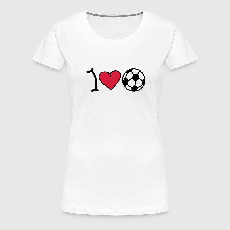 I love football - Women's Premium T-Shirt