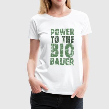 Power to the Biobauer Bio Grün Dunkel - Frauen Premium T-Shirt