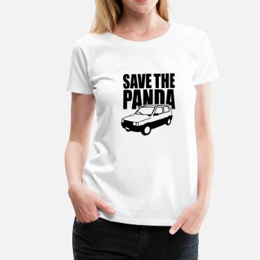 Fiat Panda Save the Panda - Vrouwen Premium T-shirt