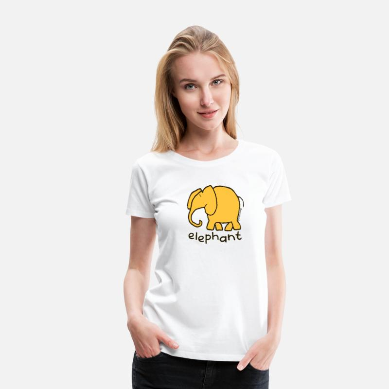 Door T-Shirts - 'elephant' - Bang on the door - Women's Premium T-Shirt white