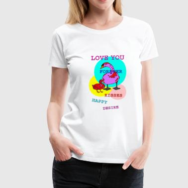 Swan Swan loves duck - Women's Premium T-Shirt