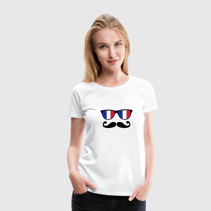 french mustache glasses nerd - like a sir - Women's Premium T-Shirt