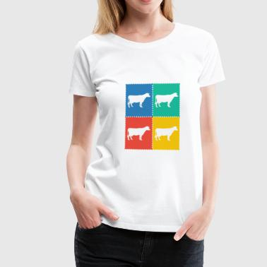 Cow Stamps Stamps - Women's Premium T-Shirt