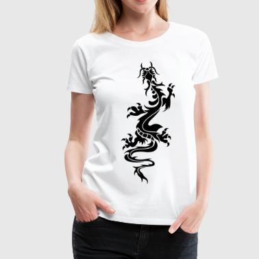 chinese dragon tribal - Women's Premium T-Shirt