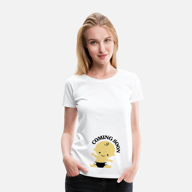 Baby T-Shirts - Baby - Coming Soon - Vrouwen premium T-shirt wit
