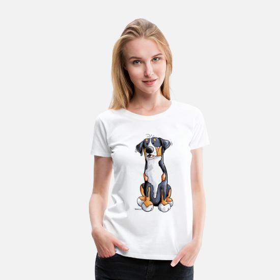 Animal T-Shirts - Funny Greater Swiss Mountain Dog - Women's Premium T-Shirt white
