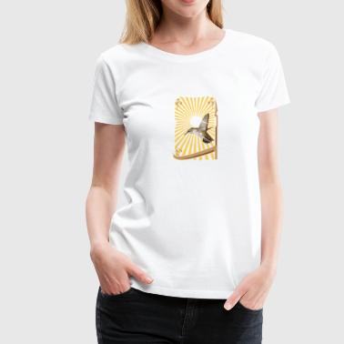 small bird with sunburst - Women's Premium T-Shirt
