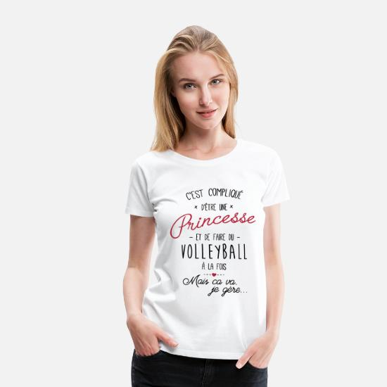 Volleyball T-shirts - princesse et Volleyball - T-shirt premium Femme blanc