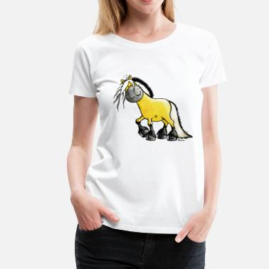Fjord Horse Cartoon Fjord horse - Norwegian Fjord Horse  - Women's Premium T-Shirt
