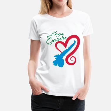 Lake Garda Lake Garda - The heart beats only for you - I - Women's Premium T-Shirt
