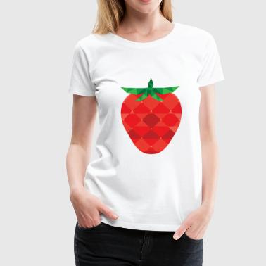 Strawberry Summer Vibe - Premium T-skjorte for kvinner