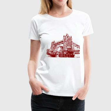 Tower Bridge Tower Bridge - Frauen Premium T-Shirt