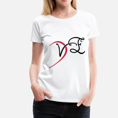 Ve Day VE - LOVE couple shirt - Maglietta Premium da donna