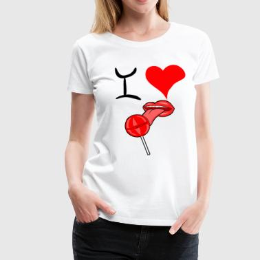 I love lollipop licking - Women's Premium T-Shirt