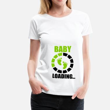 Breastfeeding Baby laading, Funny pregnancy,pregnant  - Women's Premium T-Shirt