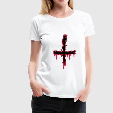 Satan Cross Satan Cross Wound - Women's Premium T-Shirt