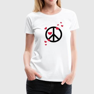 Peace Heart Love Freedom Symbol Summer Hippie - Women's Premium T-Shirt