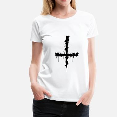 Satan Sign Satan Cross - Women's Premium T-Shirt