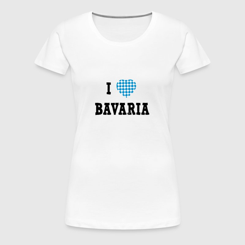 I Love Bavaria - Frauen Premium T-Shirt