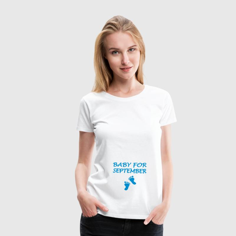 Baby for september - Dame premium T-shirt