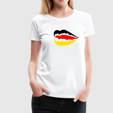 German flag / Germany flag - Sexy lips - Women's Premium T-Shirt