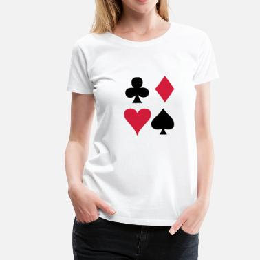 Clubs Card game - Playing Card - Women's Premium T-Shirt