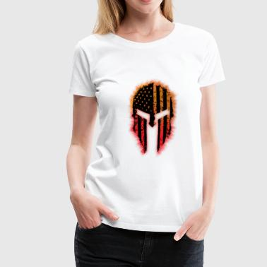 Burning Burning Mask - Premium-T-shirt dam