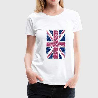 Union Jack - London - Vintage Look  - Camiseta premium mujer