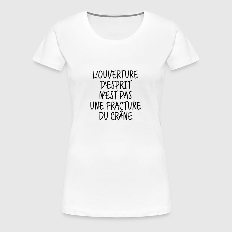 Citation Humour Philosophie Drôle Slogan Comique - T-shirt Premium Femme