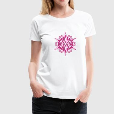 Aphrodite Symbol Flower of Aphrodite, c, Symbol of  love, beauty and transformation, Power Symbol, Amulet, Flower of Life / / - Women's Premium T-Shirt