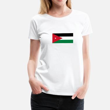 Jordan Palestinian National Flag Of Jordan - Women's Premium T-Shirt