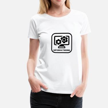Materials Engineering Computer Engineer Informatiker Informaticien - Women's Premium T-Shirt
