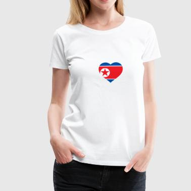 I Love North Korea (DPR Korea) - Premium-T-shirt dam