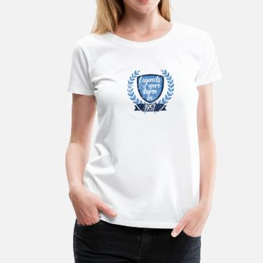 1957 Legende Legends were born in 1957 - Legenden 1957 geboren - Frauen Premium T-Shirt