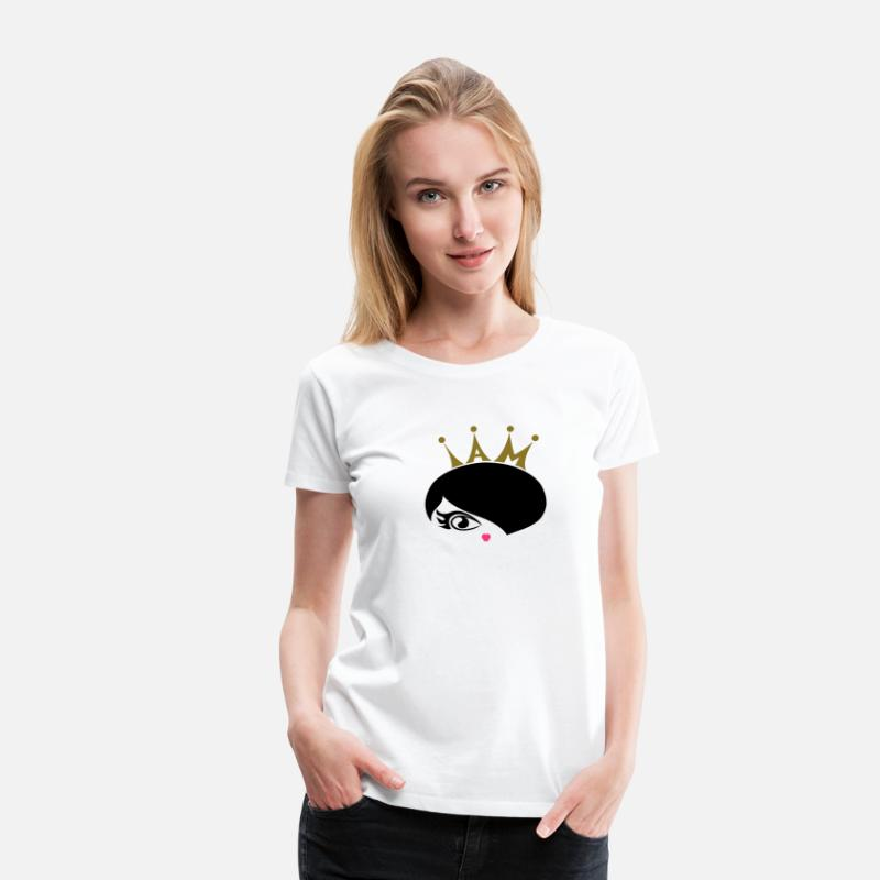 Stylish T-Shirts - princess - Women's Premium T-Shirt white