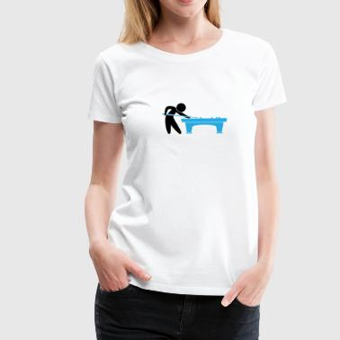 A Pool Player Is On The Pool Table - Women's Premium T-Shirt