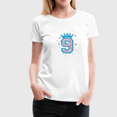 Number Crown No. 9 with crown and stars - Women's Premium T-Shirt