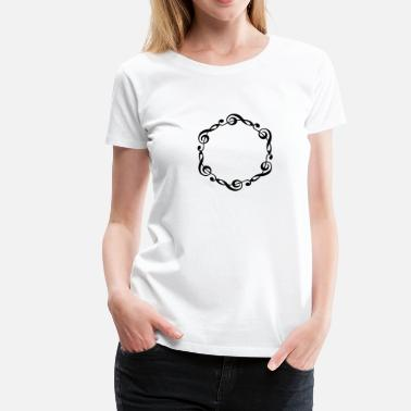 Viool Music notes violin clef frame YOUR TEXT - Vrouwen Premium T-shirt