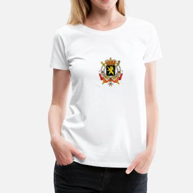 Divergente Armoiries nationales de la Belgique - T-shirt Premium Femme
