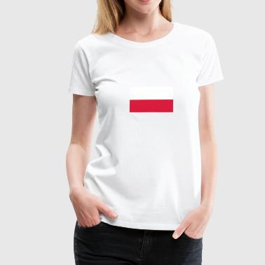 National Flag of Poland - Dame premium T-shirt