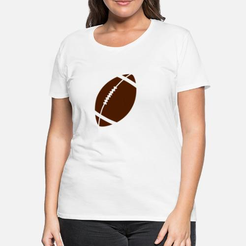 Fútbol americano - Camiseta premium mujer. detrás. detrás. Diseño. delante.  delante 2beada7cd13
