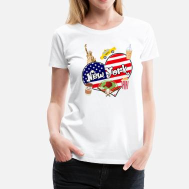 I Love New York I love New York 2 - T-shirt Premium Femme