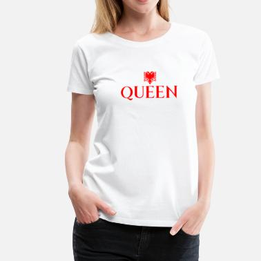Kosovare queen shirt red albanian eagle women's shirt - Women's Premium T-Shirt