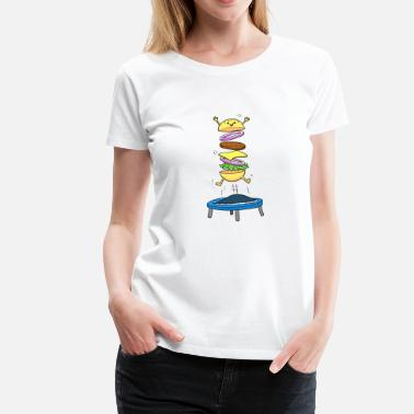 Frite Burger Hamburger Cheeseburger Saut d'obstacles - T-shirt Premium Femme