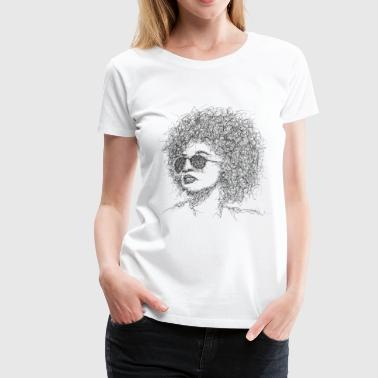 Afro Scribble - Women's Premium T-Shirt
